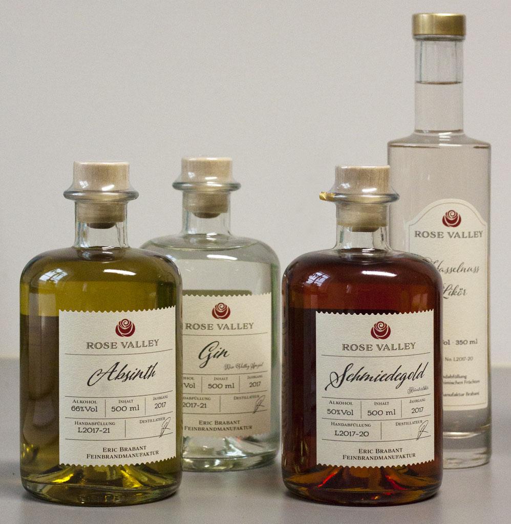Kräuter, Gin und Obstler aus der Feinbrandmanufaktur Eric Brabant, Marbach in Striegistal Obstbrände, Kräuterliköre, Gin und Whisky